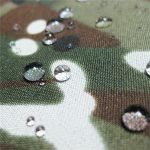 Tenda in tessuto taslon con stampa mimetica o tessuto militare
